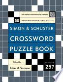 Simon And Schuster Crossword Puzzle Book 257 book