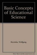 Basic concepts of educational science