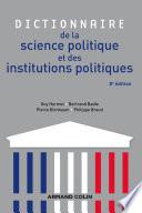 Dictionnaire de la science politique et des institutions politiques - 8e édition