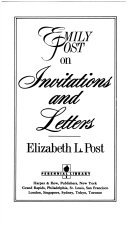 Emily Post on Invitations and Letters