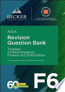 ACCA Approved   F6 Taxation  UK    Finance Act 2016  June 2017 to March 2018 exams
