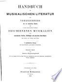 Hofmeisters Handbuch der Musikliteratur