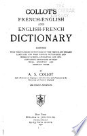Collot s French English and English French Dictionary
