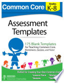 Common Core Assessment Templates Free download PDF and Read online