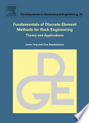 Fundamentals of Discrete Element Methods for Rock Engineering  Theory and Applications