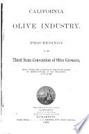 Proceedings of the Second   Third  State Olive Growers  Convention Book PDF