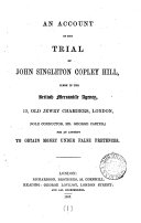 download ebook an account of the trial of john singleton copley hill ... for an attempt to obtain money under false pretences pdf epub