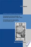 Französische Almanachkultur im deutschen Sprachraum (1700–1815)