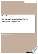 Die Internationalen Strafgerichte für Jugoslawien und Ruanda