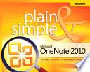 Microsoft OneNote 2010 Plain   Simple