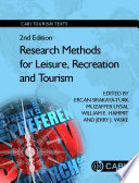 Research Methods for Leisure  Recreation and Tourism  2nd Edition