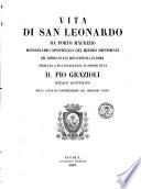 Vita di San Leonardo da Porto Maurizio missionario apostolico dei Minori Riformati del Ritiro di San Bonaventura  di Salvatore da Ormea
