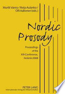 Nordic Prosody book