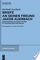Berthold Auerbach  Briefe an seinen Freund Jakob Auerbach