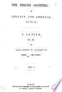 The Phœnix Societies in Ireland and America, 1858 and 1862. A Letter, Etc. Pdf/ePub eBook