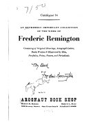 An extremely important collection of the work of Frederic Remington
