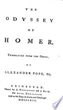 The Odyssey of Homer. Translated ... by Alexander Pope, Esq