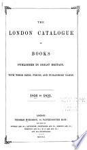 London Catalogue of Books