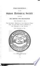 Proceedings of the Oregon Historical Society