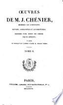 Œuvres Posthumes de M. J. Chénier