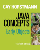 Java Concepts  Early Objects  7th Edition