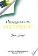 Programas de doctorado. Curso 90-91