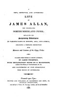 A New, Improved, and Authentic Life of James Allan