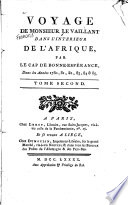 Voyage De Monsieur LeVaillant dans l int  rieur de l Afrique  par le Cap de Bonne Esperance0