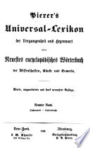 Pierer's Universal-Lexikon der Vergangenheit und Gegenwart