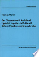Gas Dispersion with Radial and Hydrofoil Impellers in Fluids with Different Coalescence Characteristics