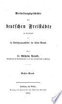 Verfassungsgeschichte der deutschen Freistädte