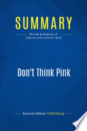 Summary Don T Think Pink