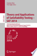 Theory and Applications of Satisfiability Testing   SAT 2014