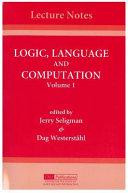 Logic  Language and Computation