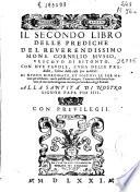 Il secondo libro delle prediche del     Cornelio Musso Vescovo di Bitonto