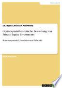 Optionspreistheoretische Bewertung von Private Equity Investments