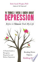 download ebook 10 things i wish i knew about depression before it almost took my life pdf epub