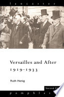 Versailles and After  1919 1933
