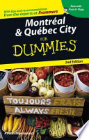 Montreal   Quebec City For Dummies