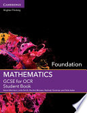 GCSE Mathematics for OCR Foundation Student Book