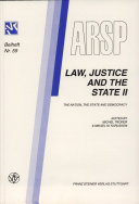 Law, Justice and the State: The nation, the state and democracy