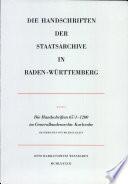 Die Handschriften 65/1-1200 im Generallandesarchiv Karlsruhe