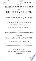 The Miscellaneous Works of John Dryden