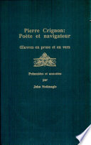 illustration du livre Pierre Crignon, poète et navigateur