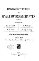 Handwörterbuch der Staatswissenschaften