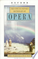 The Concise Oxford Dictionary Of Opera