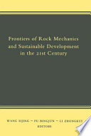 frontiers of rock mechanics and sustainable development in the 21st century