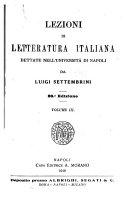 Lezioni di letteratura italiana dettate nell' università di Napoli