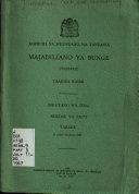 Majadiliano ya Bunge  Hansard   taarifa rasmi