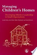 Managing Children s Homes
